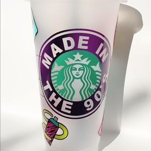 90s themed Starbucks cup